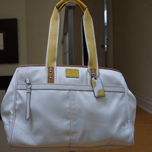 Authentic White Coach Large Tote Bag